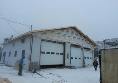 Remplacement du toit d'un garage commercial