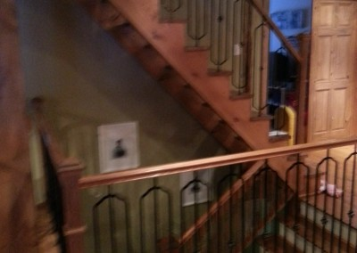 Escalier bois franc