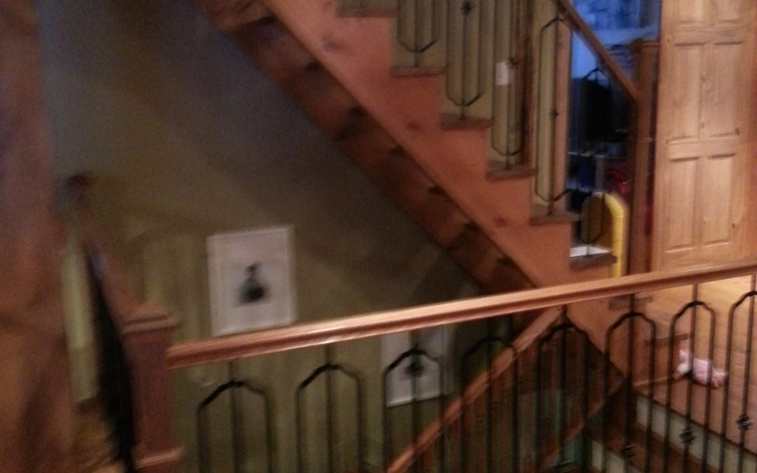 Escalier de bois